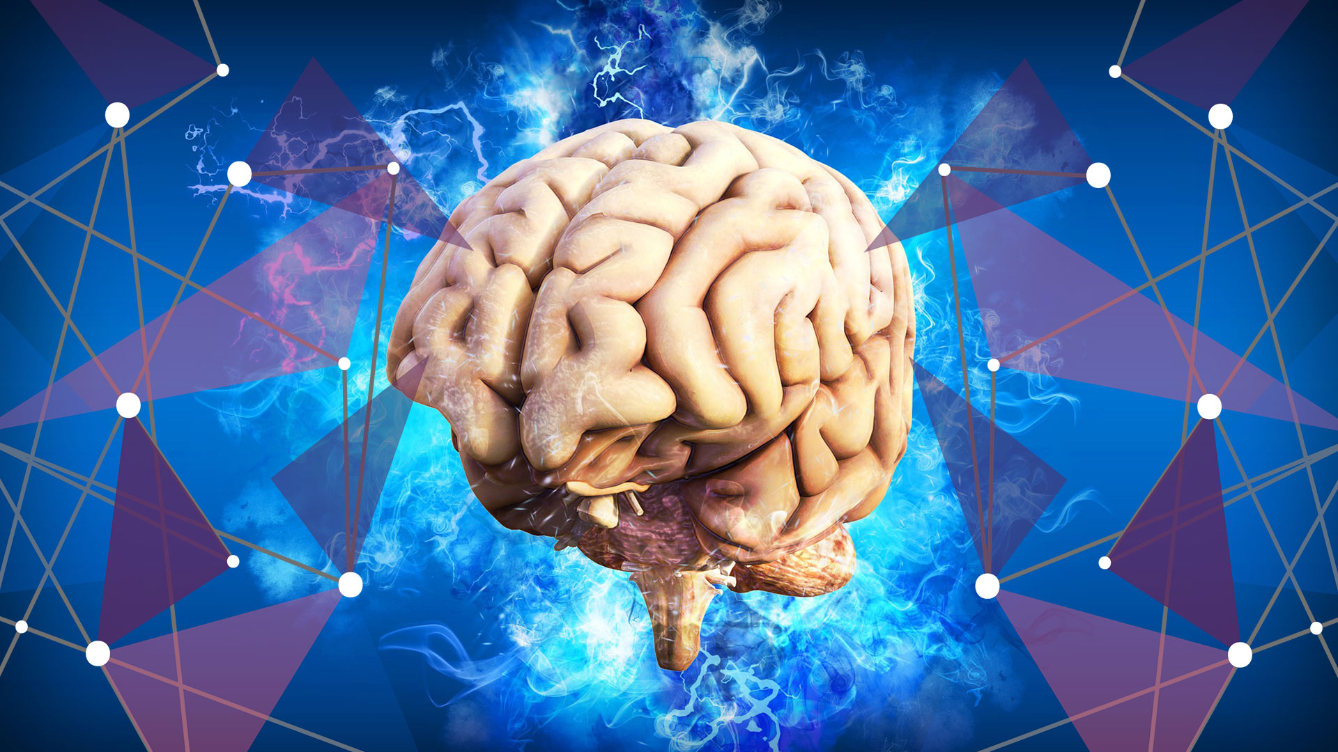 Cartoon of lit up brain