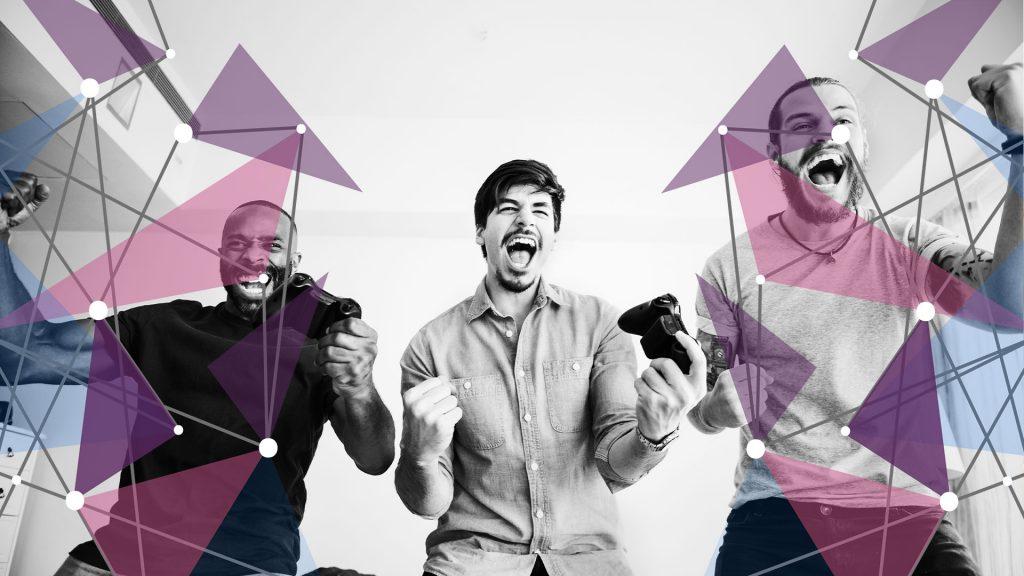 Friends enjoying social benefits of video games