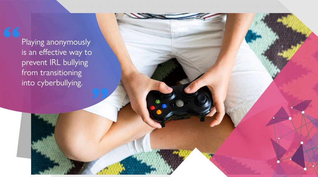 Child gaming anonymously on Xbox to avoid cyber bullying