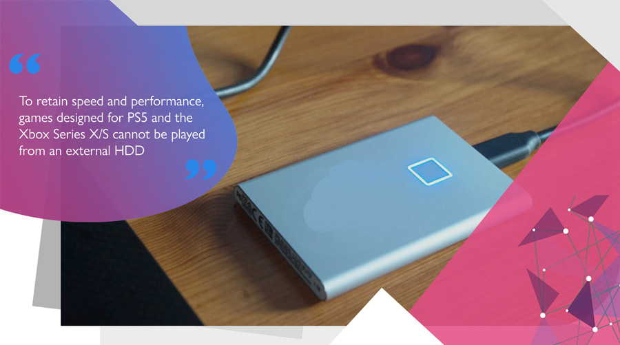 USB 3.0 external HDD storage for console game data